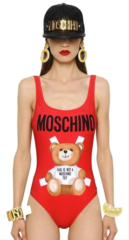 a66a2a5546efe1 Moschino Red Bear Swimsuit One-piece Bathing Suit Size 4 (S) - Tradesy