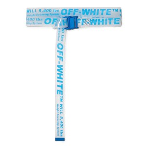 Off-White™ neon printed pvc belt