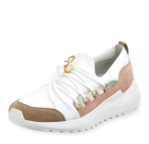 Buscemi Leather Suede Fog/White Athletic