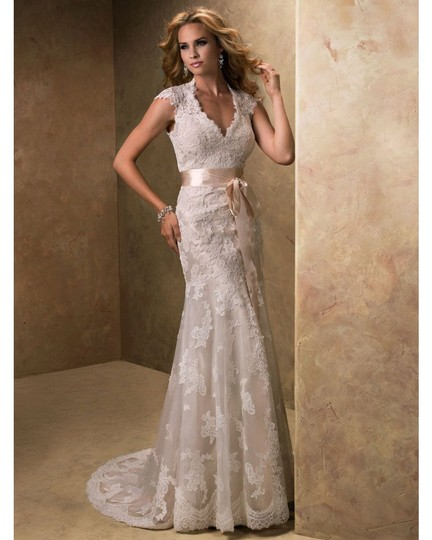 Preload https://img-static.tradesy.com/item/24627869/maggie-sottero-ivorygold-lace-bronwyn-and-cap-sleeve-gown-modest-wedding-dress-size-20-plus-1x-0-2-540-540.jpg