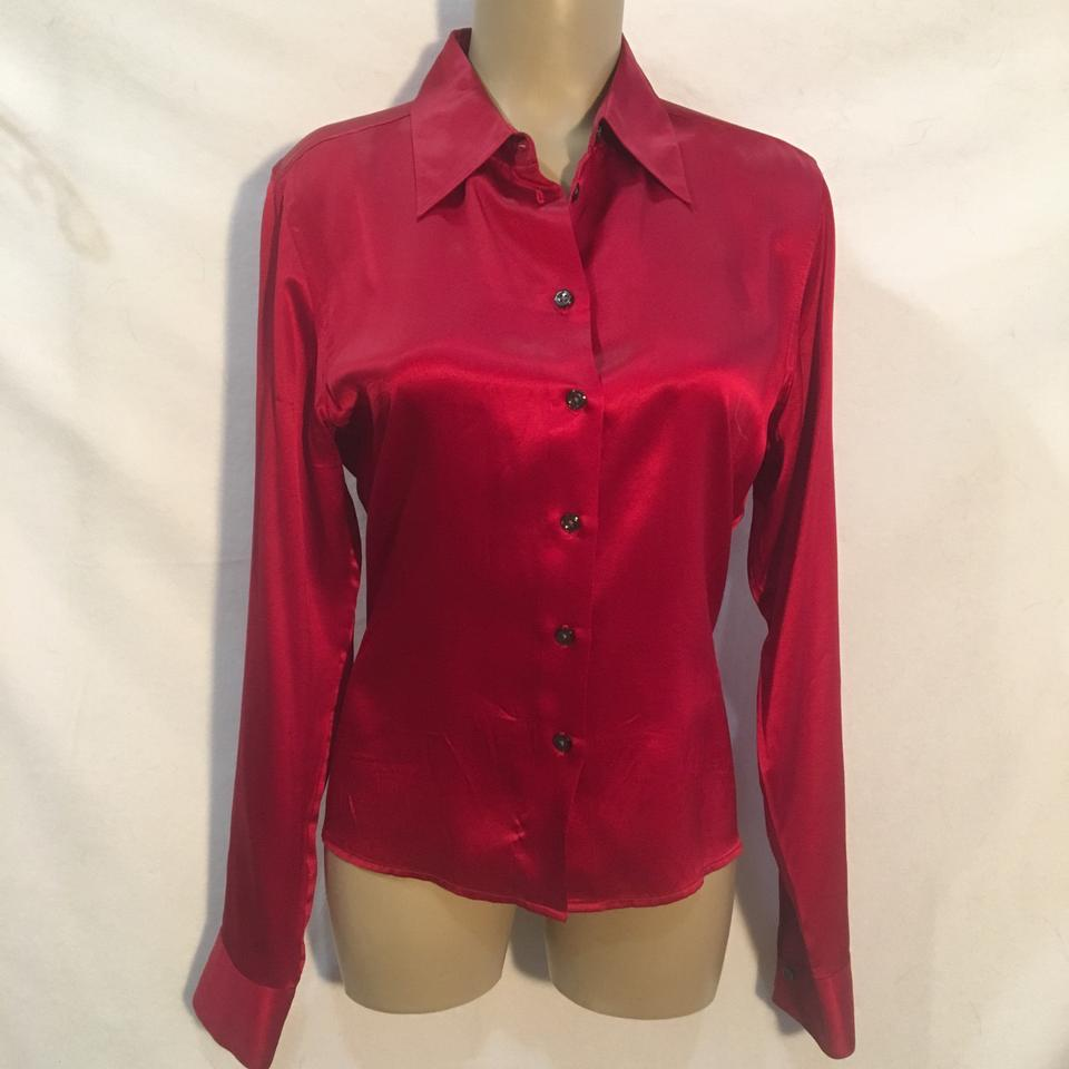efebd47509918f The Limited Red Silk Button-down Top Size 10 (M) - Tradesy
