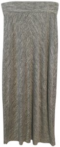 Lou & Grey Maxi Skirt Gray/Ivory