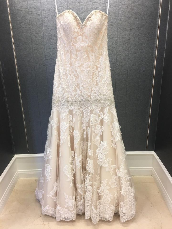 Sweetheart Ivory Dropped Waist Trumpet Unique Wedding Dress Spaghetti Straps On Ed Bodice Boning Inlaid For Perfect Body Shape Skirt