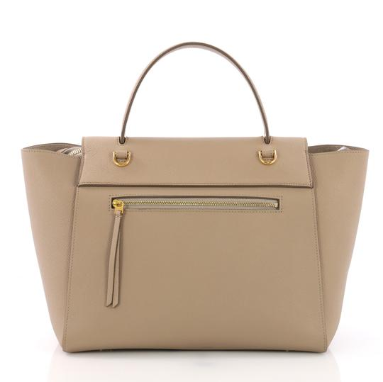 Céline Leather Beltbag Tote in taupe