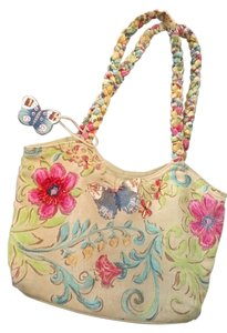 Kate McRostie Handpainted Flowers Foral Shoulder Bag