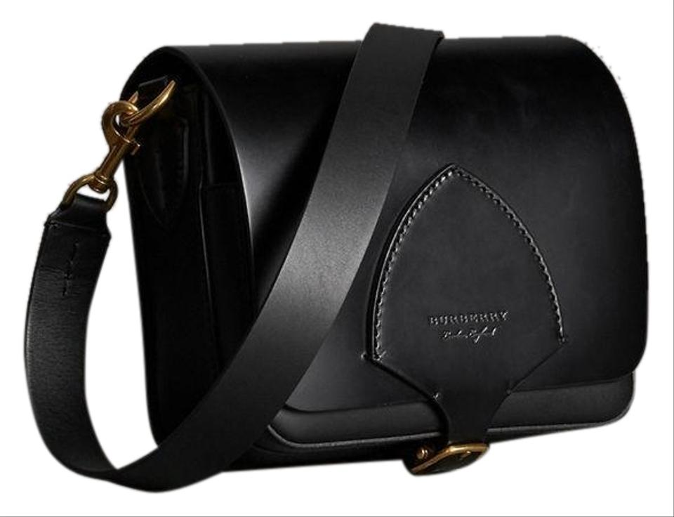 8d23dd3a11a8 Burberry The Square In Black Bridle Leather Satchel - Tradesy
