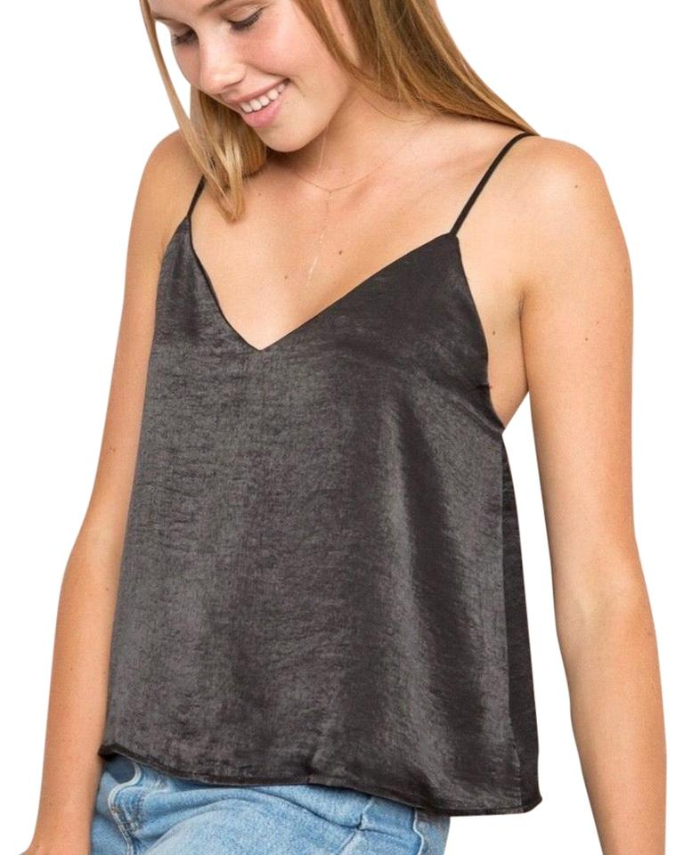 f4ffd4b5e52f9 Brandy Melville Black Alessia Silk Tank Top Cami Size OS (one size ...