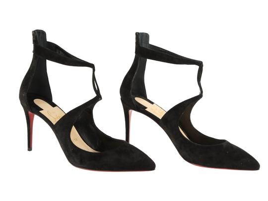 Christian Louboutin Sandals Cutout Crisscross Strap Black Pumps Image 1