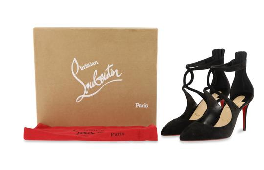 Christian Louboutin Sandals Cutout Crisscross Strap Black Pumps Image 11