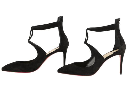 Christian Louboutin Sandals Cutout Crisscross Strap Black Pumps Image 4