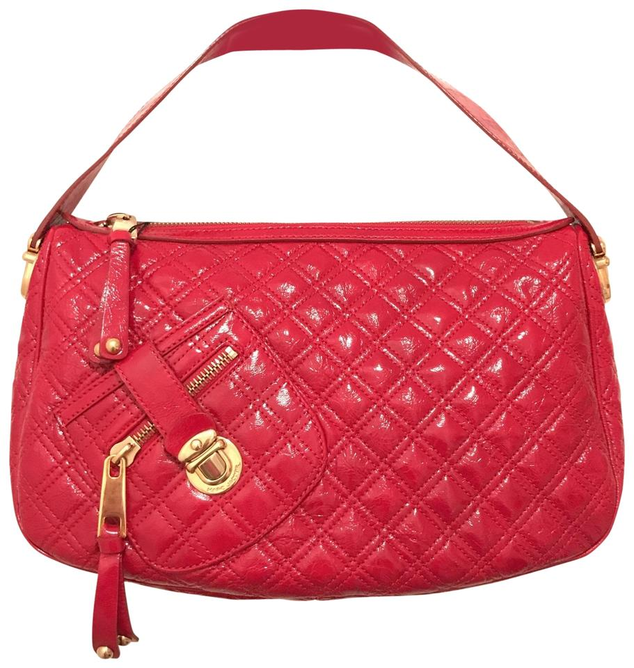 Marc Jacobs New Quilted Red Gold Patent Leather
