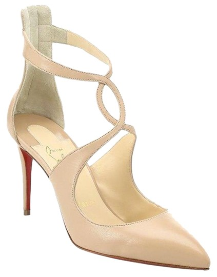 Preload https://img-static.tradesy.com/item/24628421/christian-louboutin-nude-rosas-85-leather-cross-strap-ankle-heels-sandals-pumps-size-eu-35-approx-us-0-1-540-540.jpg