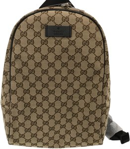 155a236b9ee0 Gucci Supreme Brown Canvas Backpack - Tradesy