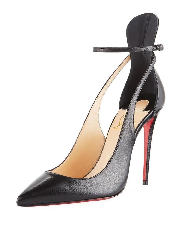 077fa0dad1a Christian Louboutin Black Mascara 100 Strappy Heels Sandals Pumps Size EU  39.5 (Approx. US 9.5) Regular (M, B) 26% off retail