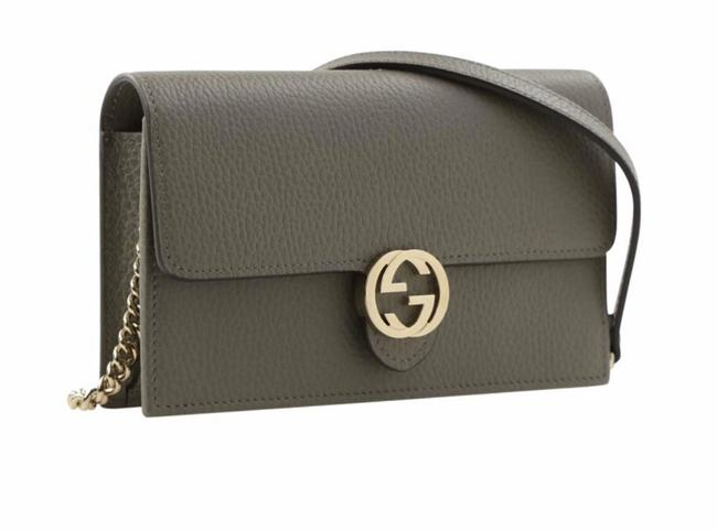 Gucci Gg Woc Gray Leather Cross Body Bag Gucci Gg Woc Gray Leather Cross Body Bag Image 1