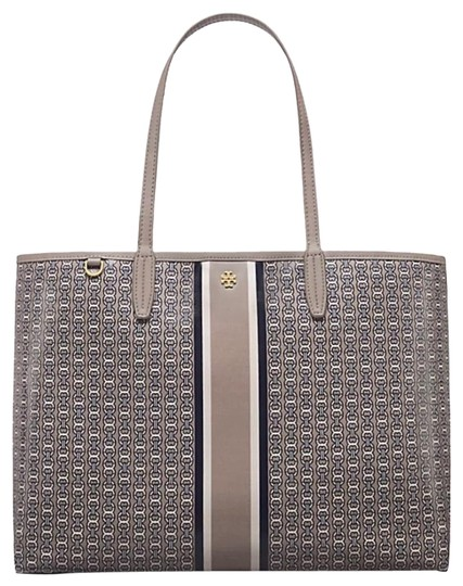 Preload https://img-static.tradesy.com/item/24628572/tory-burch-gemini-link-french-gray-coated-canvas-tote-0-1-540-540.jpg