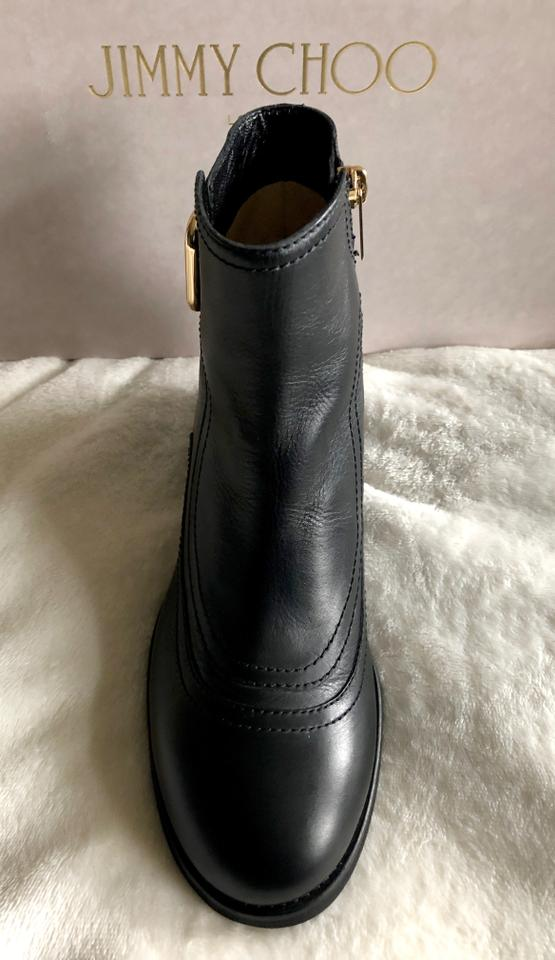 0d95fac81f5 Jimmy Choo Black Brylee Buckle Boots Booties Size EU 37 (Approx. US ...