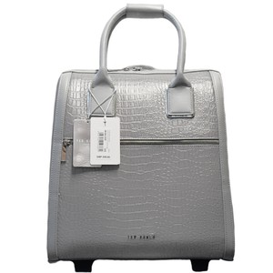c6445e2b6 Ted Baker Polyester Carry On Suitcase Crocodile Embossed Reflective Silver  Travel Bag