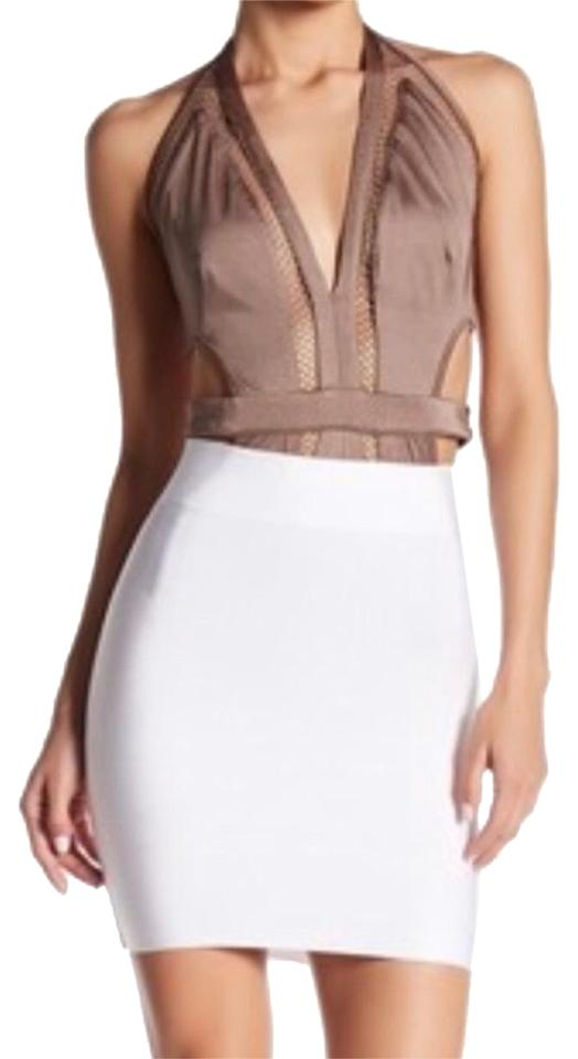 a2f0fdbbb Wow Couture White Bandage Skirt Size 12 (L, 32, 33) - Tradesy