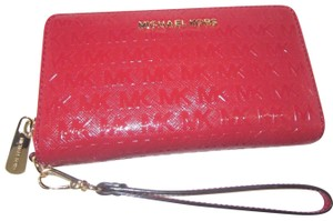 54bca6d49a41 Michael Kors Leather Wallet 191935024435 Wristlet in Red