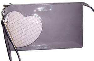 Michael Kors Leather 190049702482 Steal Grey Clutch