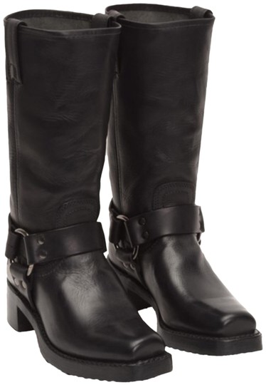 Frye Black Heirloom Harness Tall Boots Booties Size Us 8 5