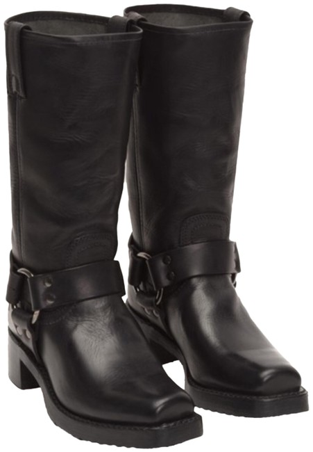 Frye Black Heirloom Harness Tall Boots/Booties Size US 8.5 Regular (M, B) Frye Black Heirloom Harness Tall Boots/Booties Size US 8.5 Regular (M, B) Image 1