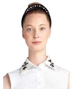 Jil Sander Jil Sander Navy Embroidered Headband