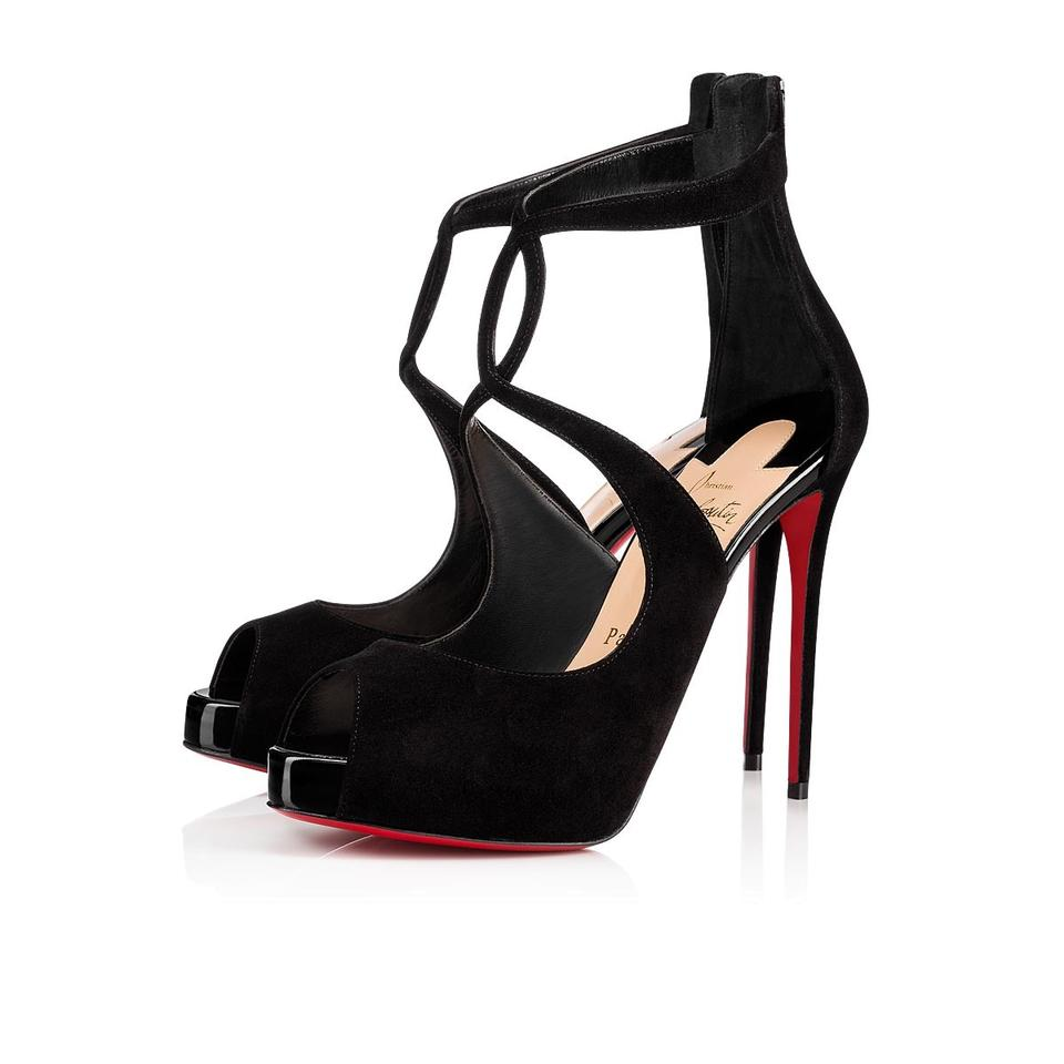 81816b1ef6e1d Christian Louboutin Black Rosie 120 Leather Crisscross Strap Pumps Heels  Sandals Platforms. Size: EU 37.5 ...
