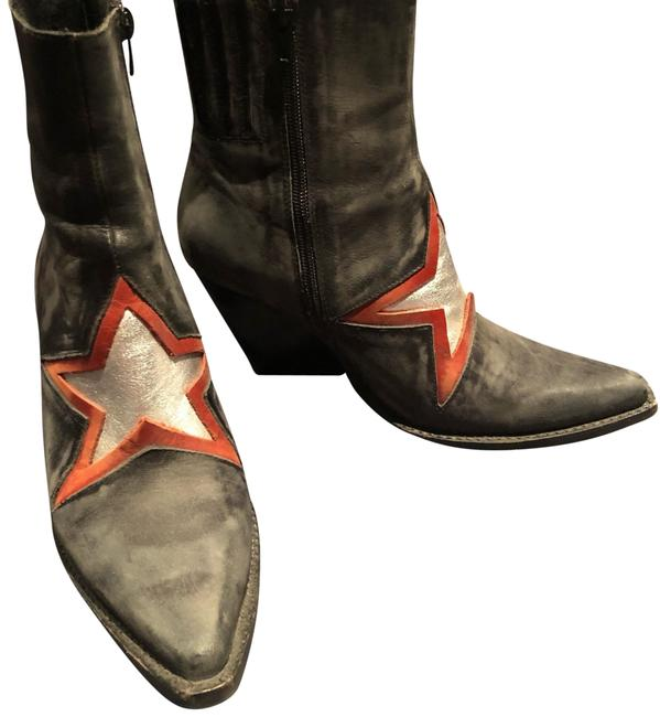 Item - Black with Red and Silver Star. For Free People Boots/Booties Size US 8 Regular (M, B)
