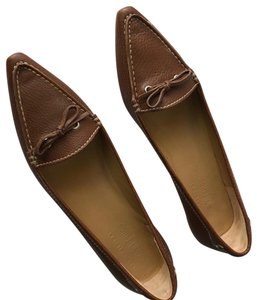 f32d192b Brown Leather Loafers Flats