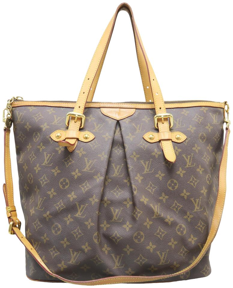 cf649b885b0a Louis Vuitton Lv Palermo Gm Canvas Monogram Satchel in Brown Image 0 ...