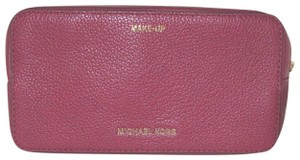 Michael Kors Leather Cosmetic 190049797679 Cherry Clutch