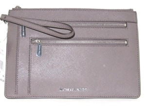 Michael Kors Leather Cinder/Taupe 190049710586 Cinder/Taupe Clutch