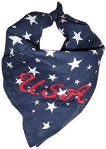 Other Red Navy Blue White Stars Print U.s.a. 4th Of July Bandana Scarf Wrap 8831db049595