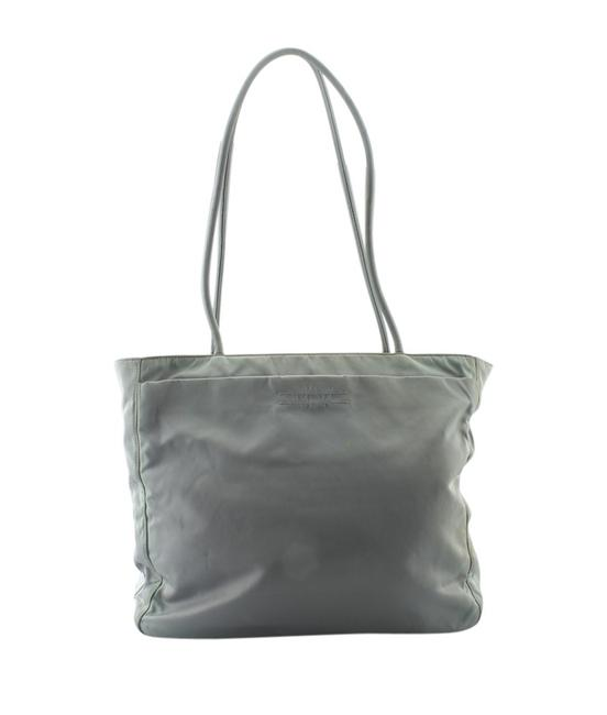 Item - East-west Ghiaccio Green Canvas Tote