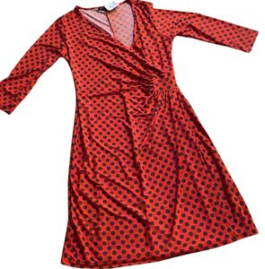 Mlle Gabrielle short dress Red and Brown on Tradesy