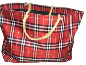 Burberry London Tote in red