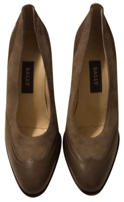 Item - Taupe New Wing Tip Leather & Suede Pumps Size US 7 Regular (M, B)