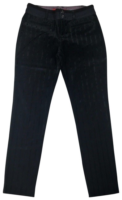 Item - Black Velvet Striped Charlie Ankle Pants Size 2 (XS, 26)
