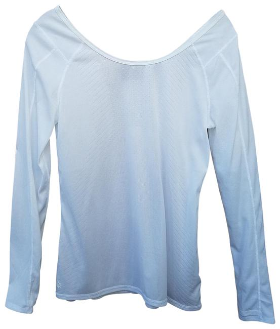 Item - White Ventilated Activewear Top Size 4 (S)