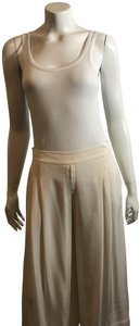 Brochu Walker Wide Leg Silk Silk Capri/Cropped Pants ivory