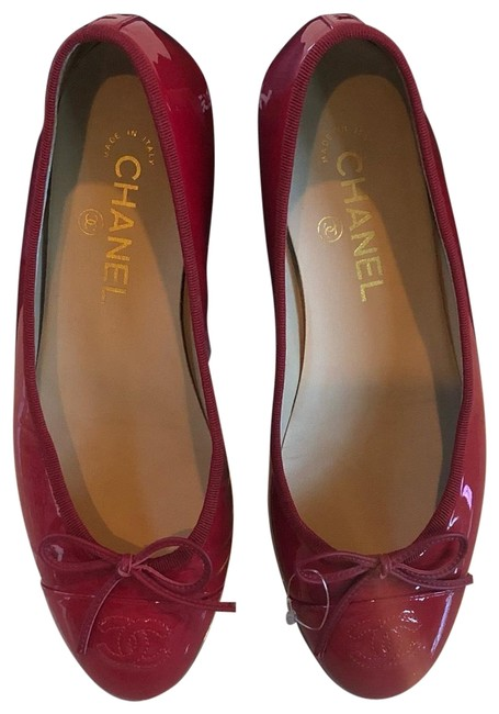 Item - Magenta Ballet Patent Leather Like New with Accessories Flats Size EU 38 (Approx. US 8) Regular (M, B)