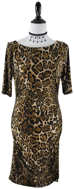 Preload https://img-static.tradesy.com/item/24630858/nine-west-yellow-brown-leopard-print-scrunched-half-sleeve-ruching-bodycon-mid-length-cocktail-dress-0-1-650-650.jpg