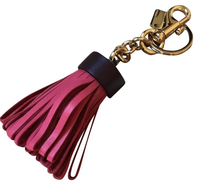 Item - Rose/Burgandy Leather Tassel Keychain