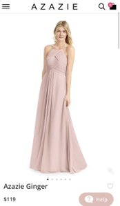 Azazie Dusty Rose Ginger Formal Bridesmaid/Mob Dress Size 4 (S)