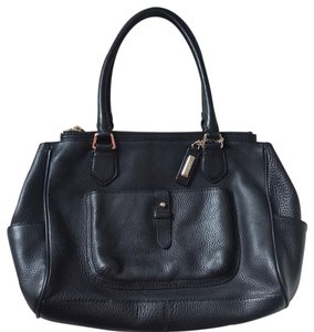 f1ab4eb82d Cole Haan Double Zip Black Leather Tote - Tradesy