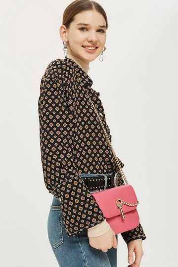 Topshop Leather Cross Body Bag Image 2