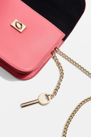 Topshop Leather Cross Body Bag Image 3
