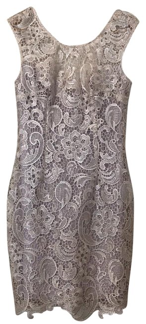 Item - Champagne Taupe Short Night Out Dress Size 4 (S)